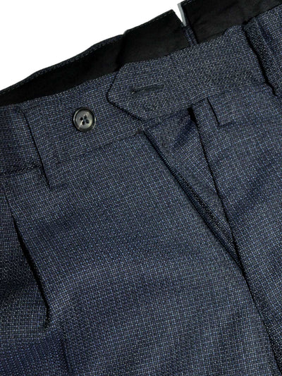 Luigi Borrelli Dress Pants Gray Midnight Blue