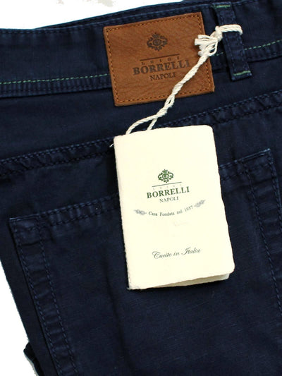 Borrelli Pants 5 Pocket Navy