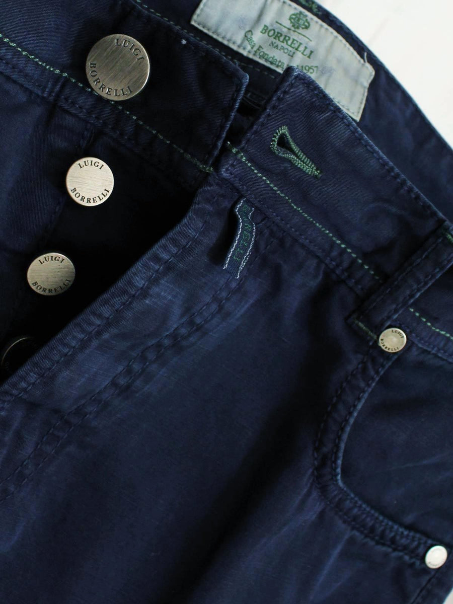 Luigi Borrelli Pants 5 Pocket Navy