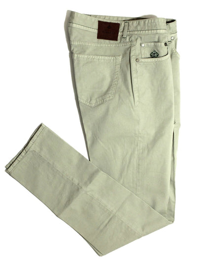 Luigi Borrelli Pants 5 Pocket Beige Slim Fit 32 SALE