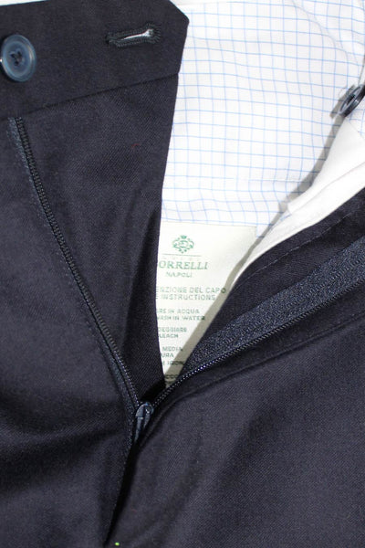 Luigi Borrelli Dress Pants Navy Wool 33 (Eur 50) SALE