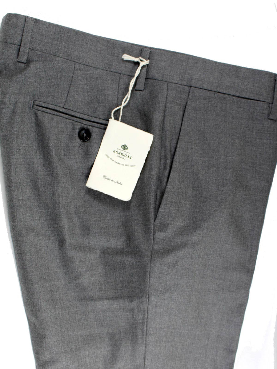 Luigi Borrelli Dress Pants Gray Wool