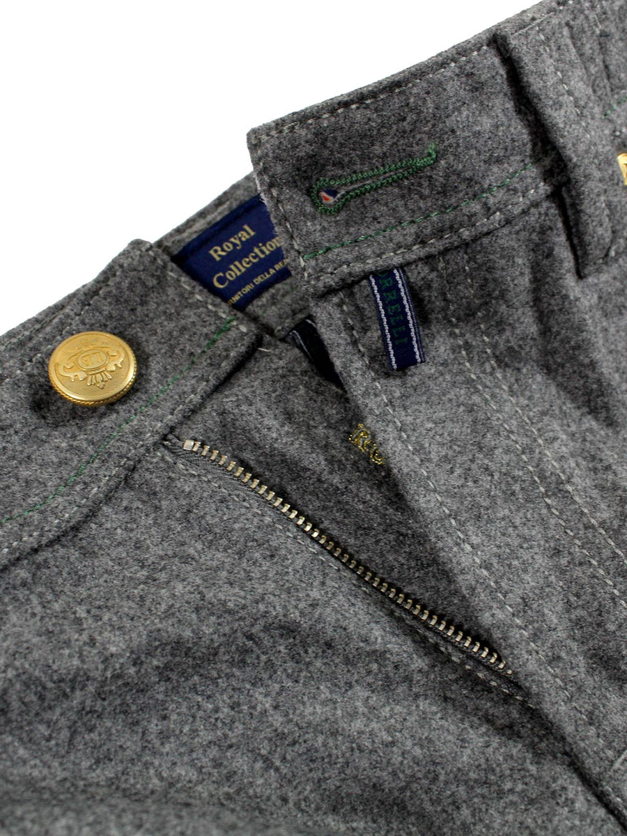 Luigi Borrelli Wool 5 Pocket Pants Gray ROYAL COLLECTION Slim Fit