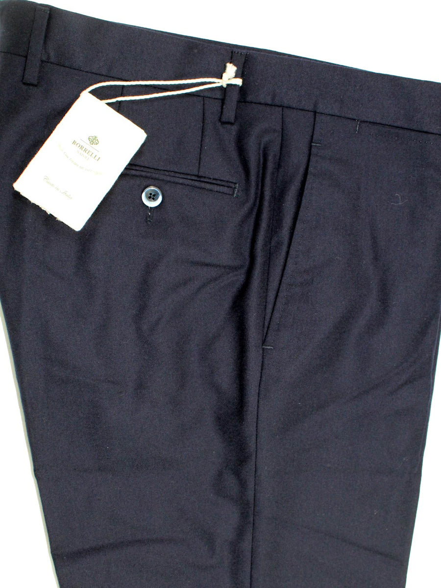 Luigi Borrelli Dress Pants Dark Navy Wool