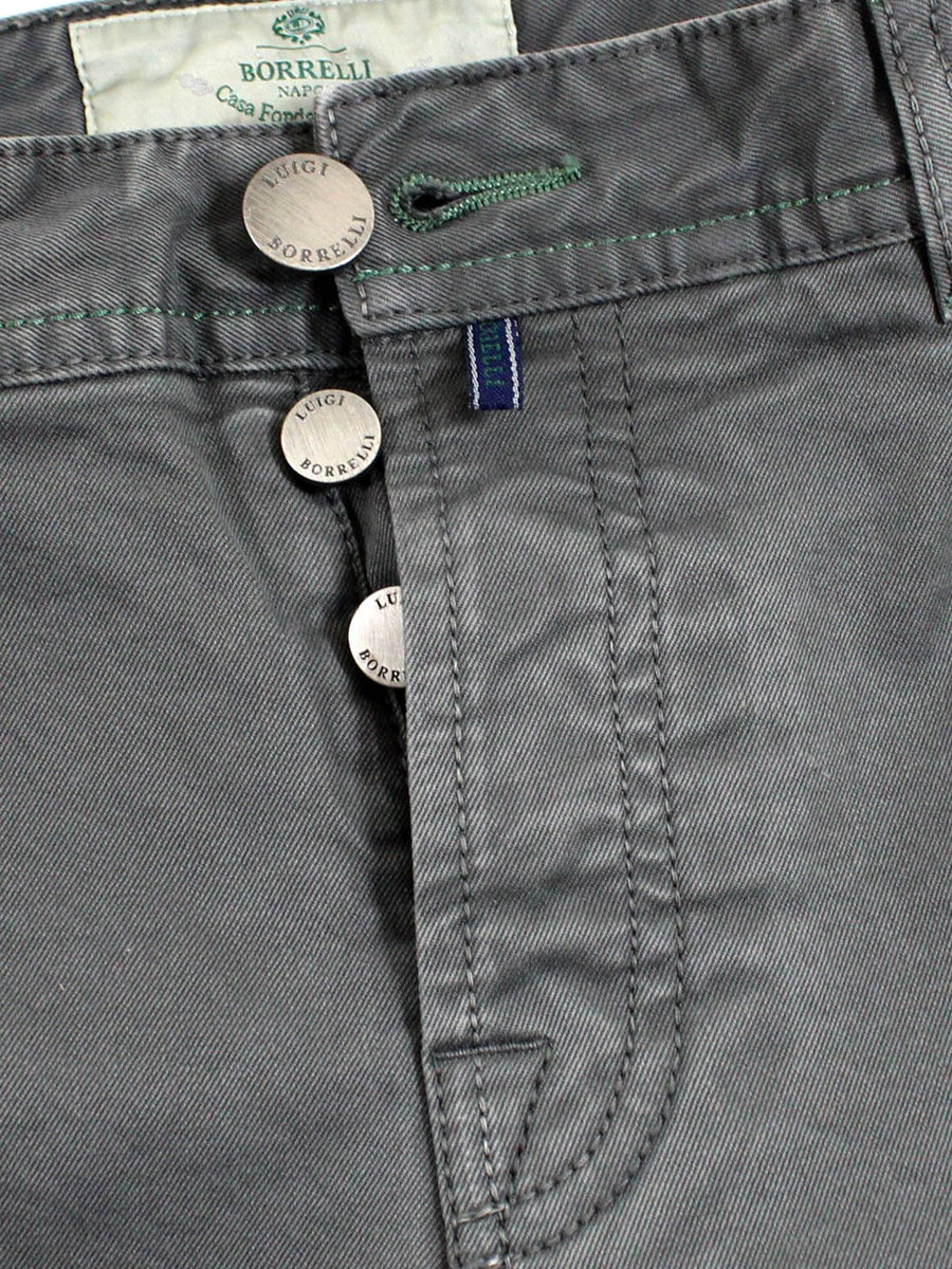 Luigi Borrelli Denim Jeans Ceylon Gray Slim Fit
