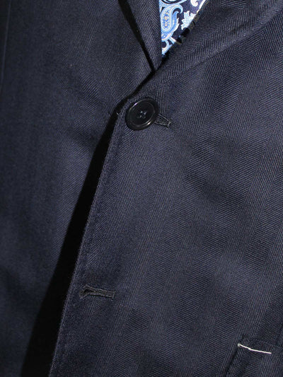 Sport Coat Navy Wool Cashmere
