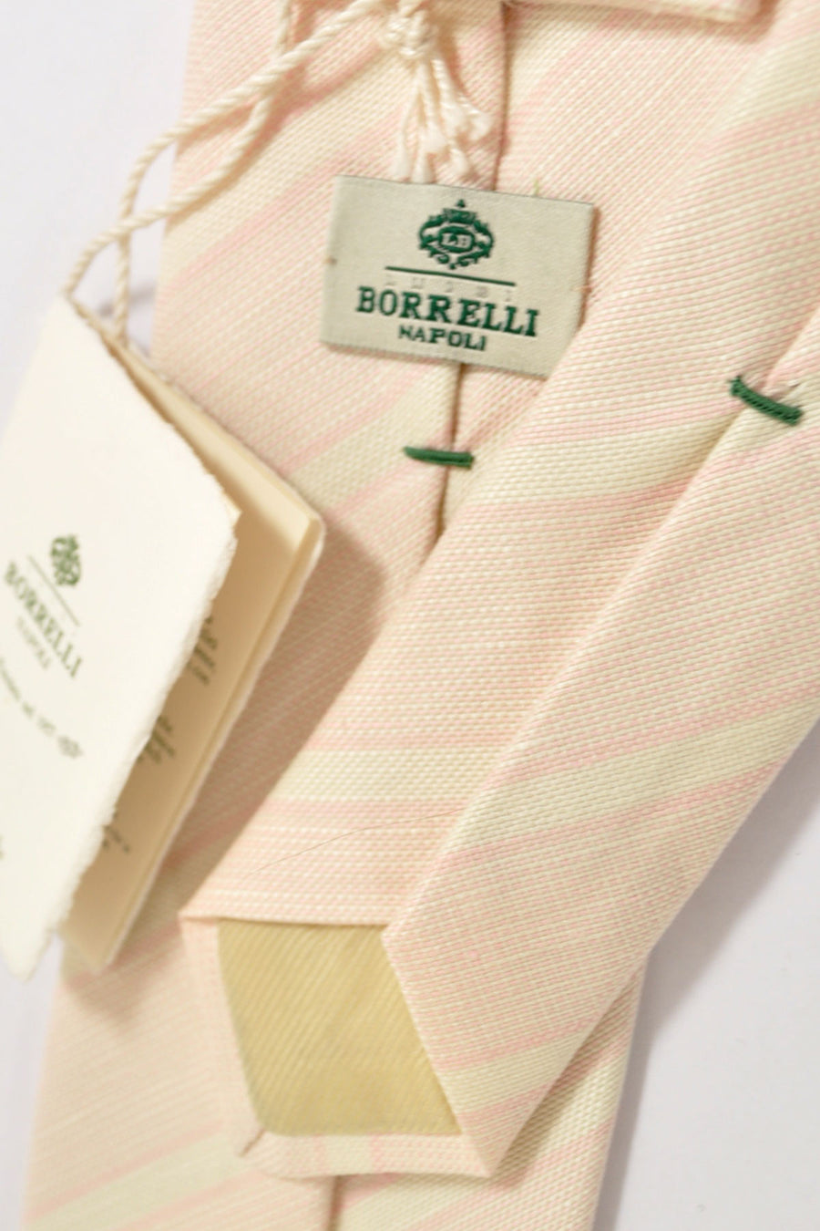 Luigi Borrelli Tie Silk Cotton Light Pink