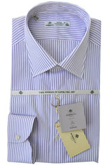 Luigi Borrelli Shirt White Purple Stripe Sakellaridis