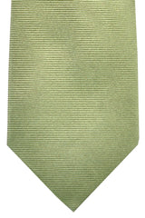 Luigi Borrelli Tie Sage Green Horizontal Stripes Design