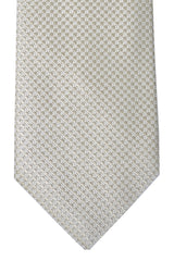 Luigi Borrelli Sevenfold Tie Royal Collection Taupe Silver
