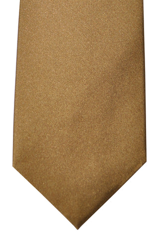 Luigi Borrelli Sevenfold Tie Royal Collection Brown Solid