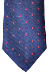 Luigi Borrelli Tie Navy Pink Diamonds