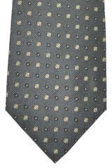 Luigi Borrelli Sevenfold Tie ROYAL COLLECTION Brown Cream Floral