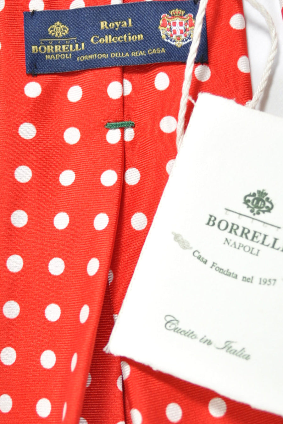 Sevenfold Tie ROYAL COLLECTION Red White Polka Dots
