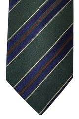 Luigi Borrelli Tie Green Lapis Stripes Design