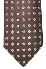Luigi Borrelli Tie Brown Taupe Geometric