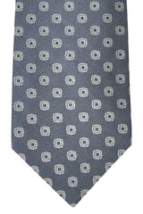 Luigi Borrelli Tie Gray Silver Blue Design
