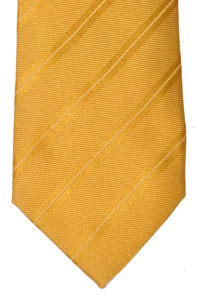 Luigi Borrelli Sevenfold Tie ROYAL COLLECTION Olive Gold Stripes