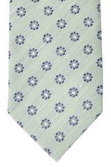 Luigi Borrelli Sevenfold Tie ROYAL COLLECTION Green Silver Navy Floral