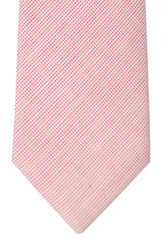 Luigi Borrelli Sevenfold Tie ROYAL COLLECTION Pink White