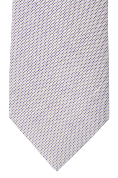 Luigi Borrelli Sevenfold Tie ROYAL COLLECTION Purple White