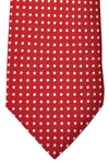 Luigi Borrelli Sevenfold Tie ROYAL COLLECTION Red White Dots