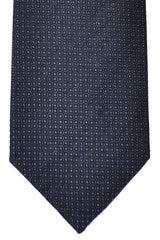 Luigi Borrelli Tie Navy Gray Geometric