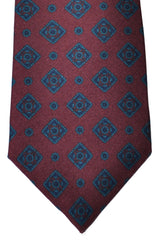 Luigi Borrelli Tie Wine Purple Teal Navy Geometric