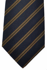 Luigi Borrelli Tie Navy Olive Stripes