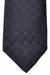Luigi Borrelli Tie Dark Gray Ebony Geometric