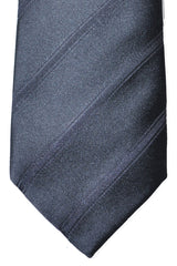Luigi Borrelli Tie Gray Tonal Stripes