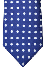 Luigi Borrelli Narrow Tie Navy White Polka Dots