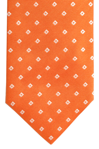 Luigi Borrelli Tie Red White Geometric