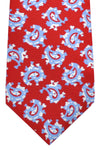 Luigi Borrelli Tie Red Blue White Paisley Silk FINAL SALE