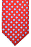 Luigi Borrelli Silk Tie Red Blue White Floral
