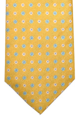 Luigi Borrelli Silk Tie Yellow Sky Blue White Floral