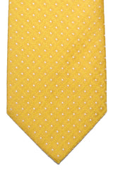 Luigi Borrelli Silk Tie Yellow Silver Geometric