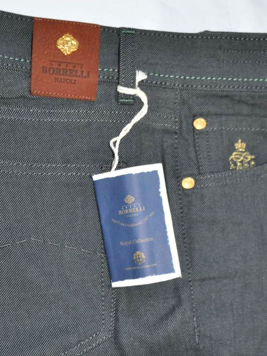 Luigi Borrelli Denim Jeans Gray Denim Slim Fit