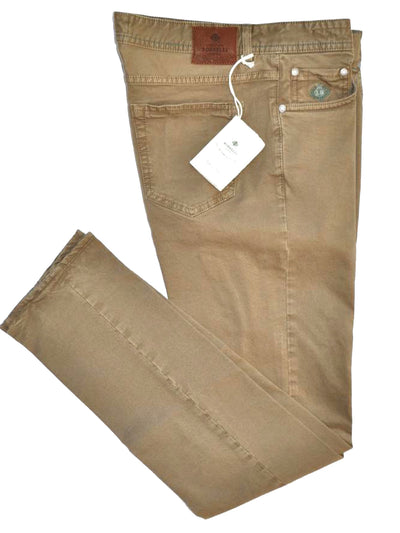Luigi Borrelli Denim Jeans Cream Denim Slim Fit