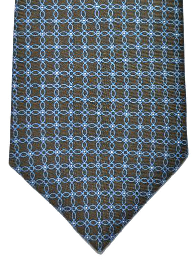 Luigi Borrelli Tie Brown Blue Geometric