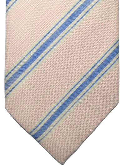 Luigi Borrelli Tie Pink Dark Blue Regimental Design