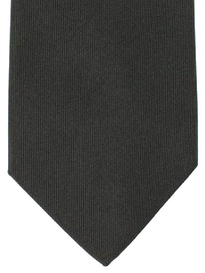 Luigi Borrelli Silk Tie Black Grosgrain Design