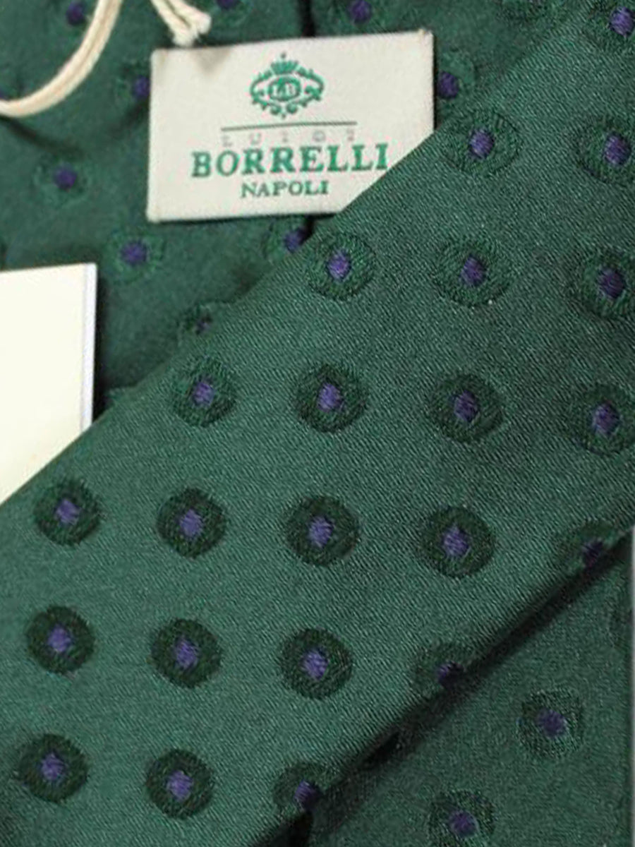 Luigi Borrelli Tie Green Navy Dots