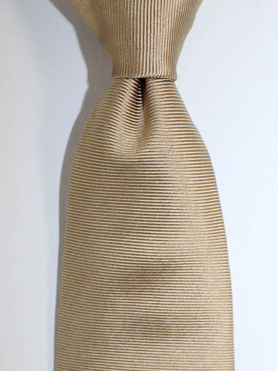 Luigi Borrelli Sevenfold Tie ROYAL COLLECTION Solid Taupe Grosgrain SALE
