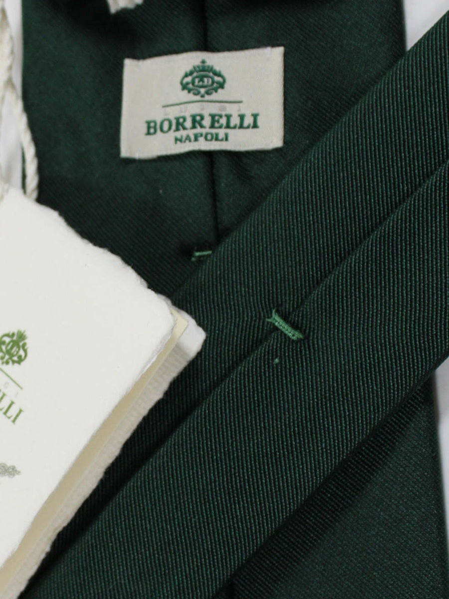 Luigi Borrelli Silk Tie Green Solid