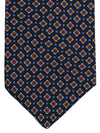 Luigi Borrelli Silk Tie Black Royal Blue Red Geometric