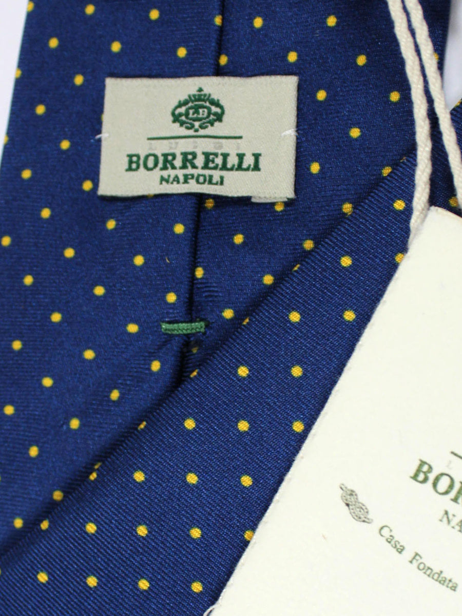 Luigi Borrelli Tie Navy Yellow Dots