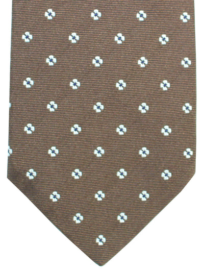 Luigi Borrelli Tie Brown Geometric