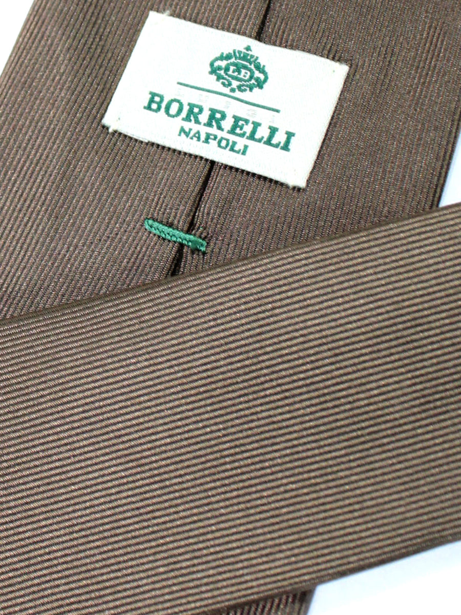 Luigi Borrelli Tie Brown Grosgrain