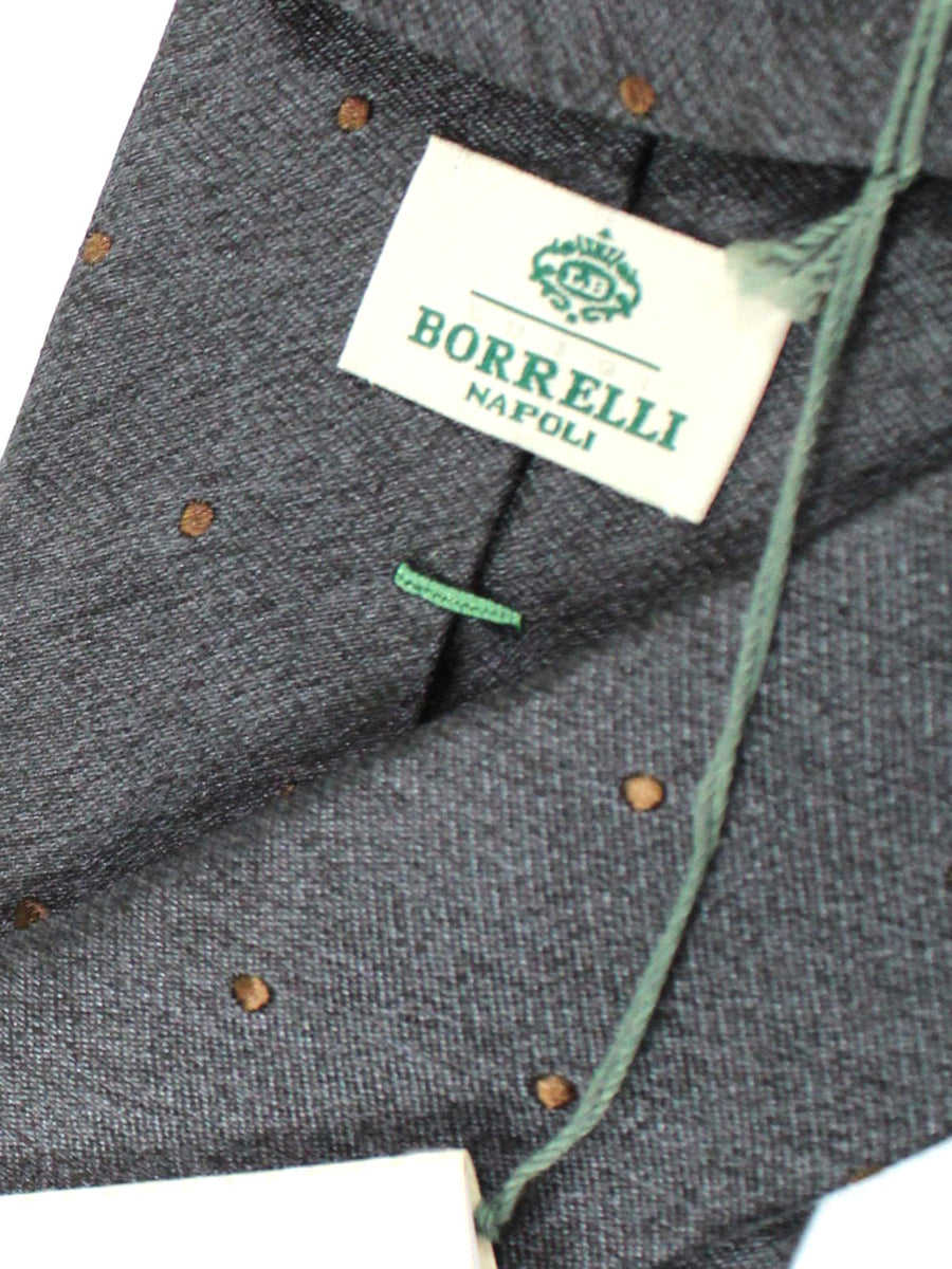 Luigi Borrelli Tie Gray Brown Dots